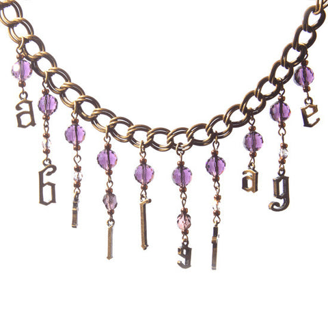 abilletage Logo Necklace purple black