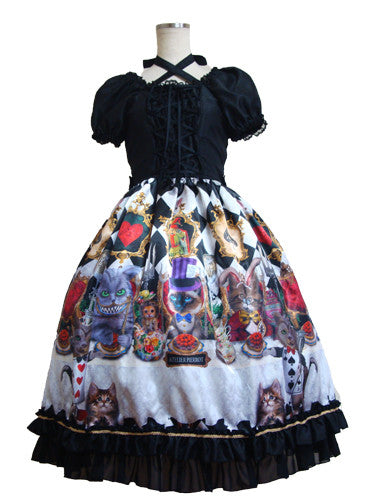 ATELIER PIERROT Cats tea party -Alice in wonderland-Dress /Diamond