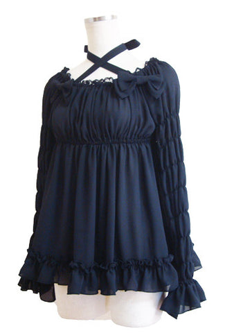 ATELIER PIERROT Angel Blouse black