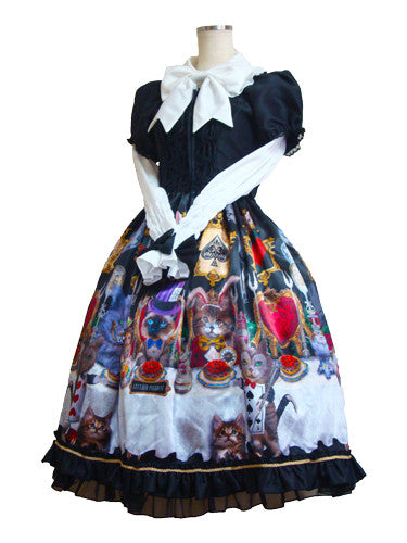 【 ATELIER PIERROT】Cats tea party -Alice in wonderland- Blouse White