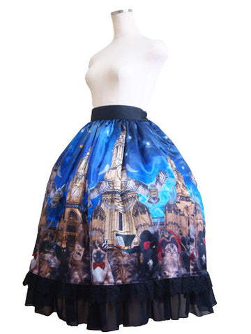 ATELIER PIERROT Evening Party Mid Skirt Navy