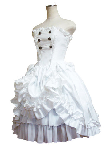 ATELIER PIERROT Fantasia Corset Dress white