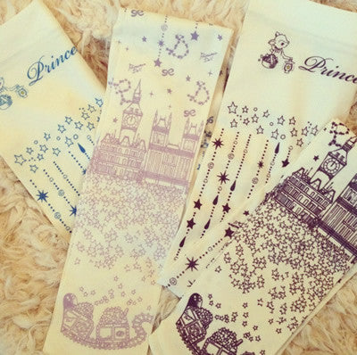 "Princess Doll ""Night Stars Accumulate On Me Tights-ivory×gray-"""