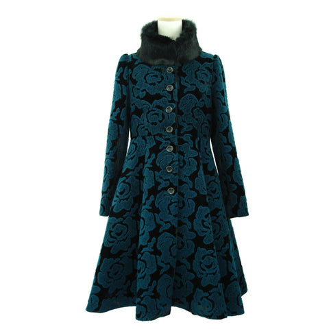 "Sheglit ""Blue Rose stand collar coat"" / 1 item left"
