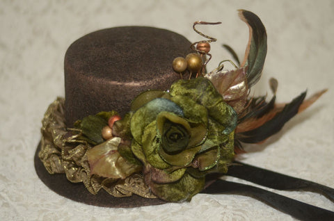 "corgi-corgi ""Mini hat(Green rose)"""