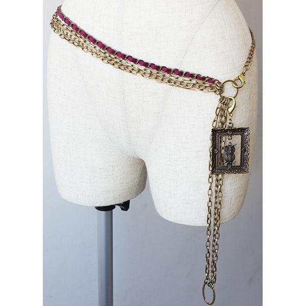 EXCENTRIQUE '15A Night Owl Chain Belt