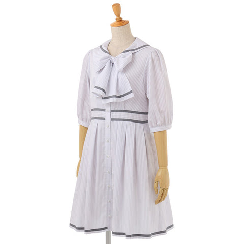 EXCENTRIQUE '15A Cristopher Sailor Dress gray