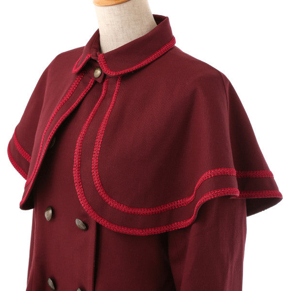 EXCENTRIQUE '15SP Inspector Coat BORDEAUX