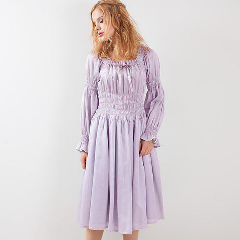 EXCENTRIQUE '15A Satin Stripe Dress LAVENDER