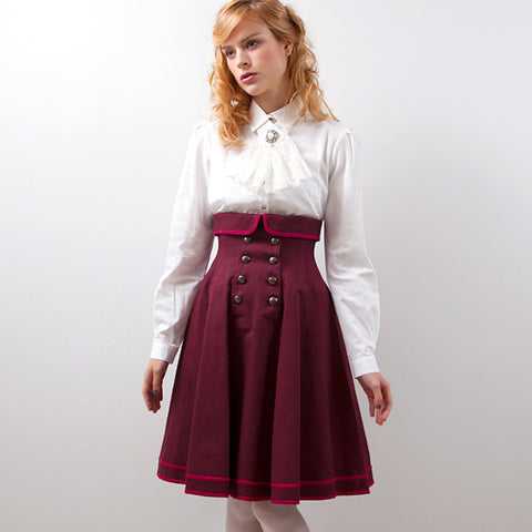 EXCENTRIQUE '15SP Inspector Corset Skirt BORDEAUX