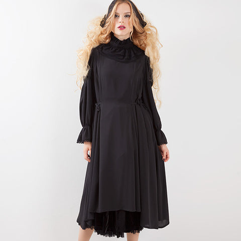 EXCENTRIQUE '15A Collar Georgette Robe
