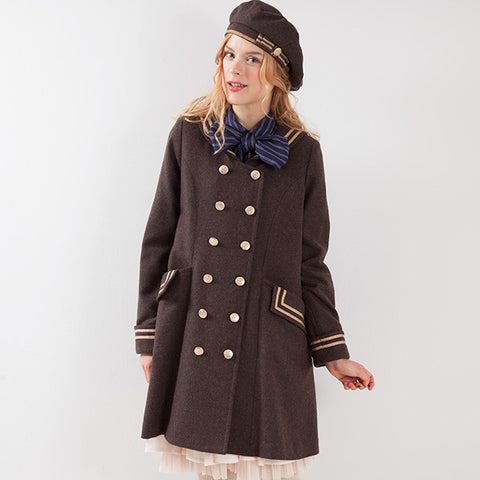 EXCENTRIQUE '15A Sailor Coat brown