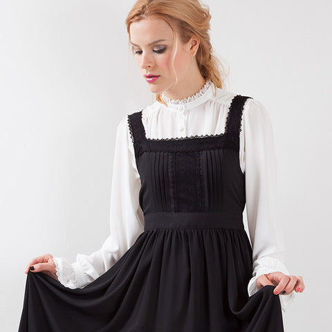 EXCENTRIQUE '15A Georgette Apron Dress