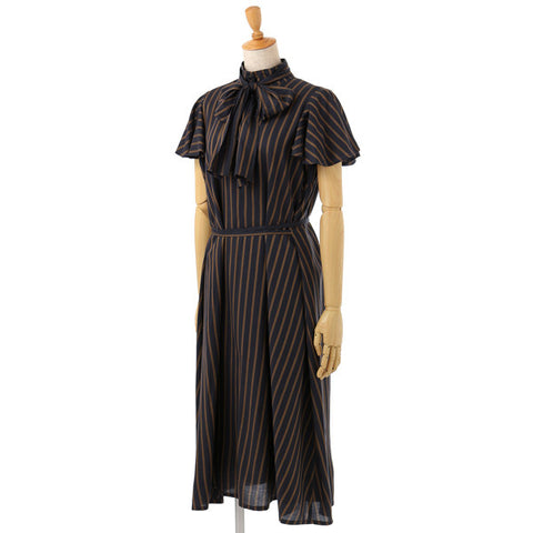 EXCENTRIQUE '15A Viscose Bow Dress STRIPE