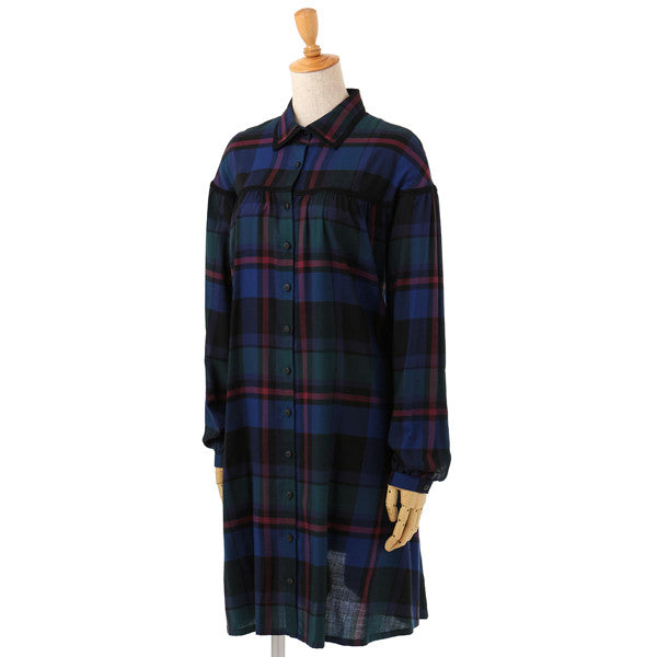 EXCENTRIQUE '15A Viscose Shirt Dress CHECK