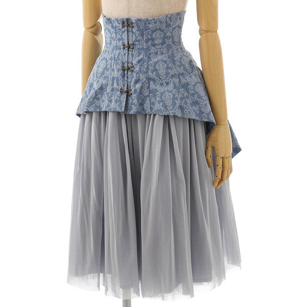 EXCENTRIQUE '15A Baroque Corset W Skirt BLUE