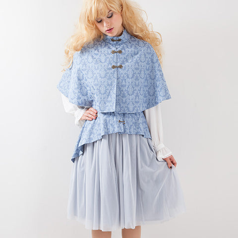 EXCENTRIQUE '15A Baroque Mini Cape BLUE