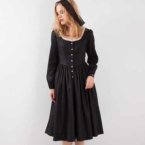 EXCENTRIQUE '15A Checker Witch Dress BLK
