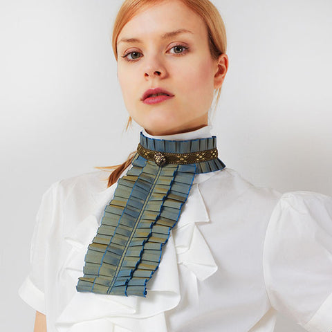 "EXCENTRIQUE ""'15SU Pleats Tafeta Jabot""  GREEN"