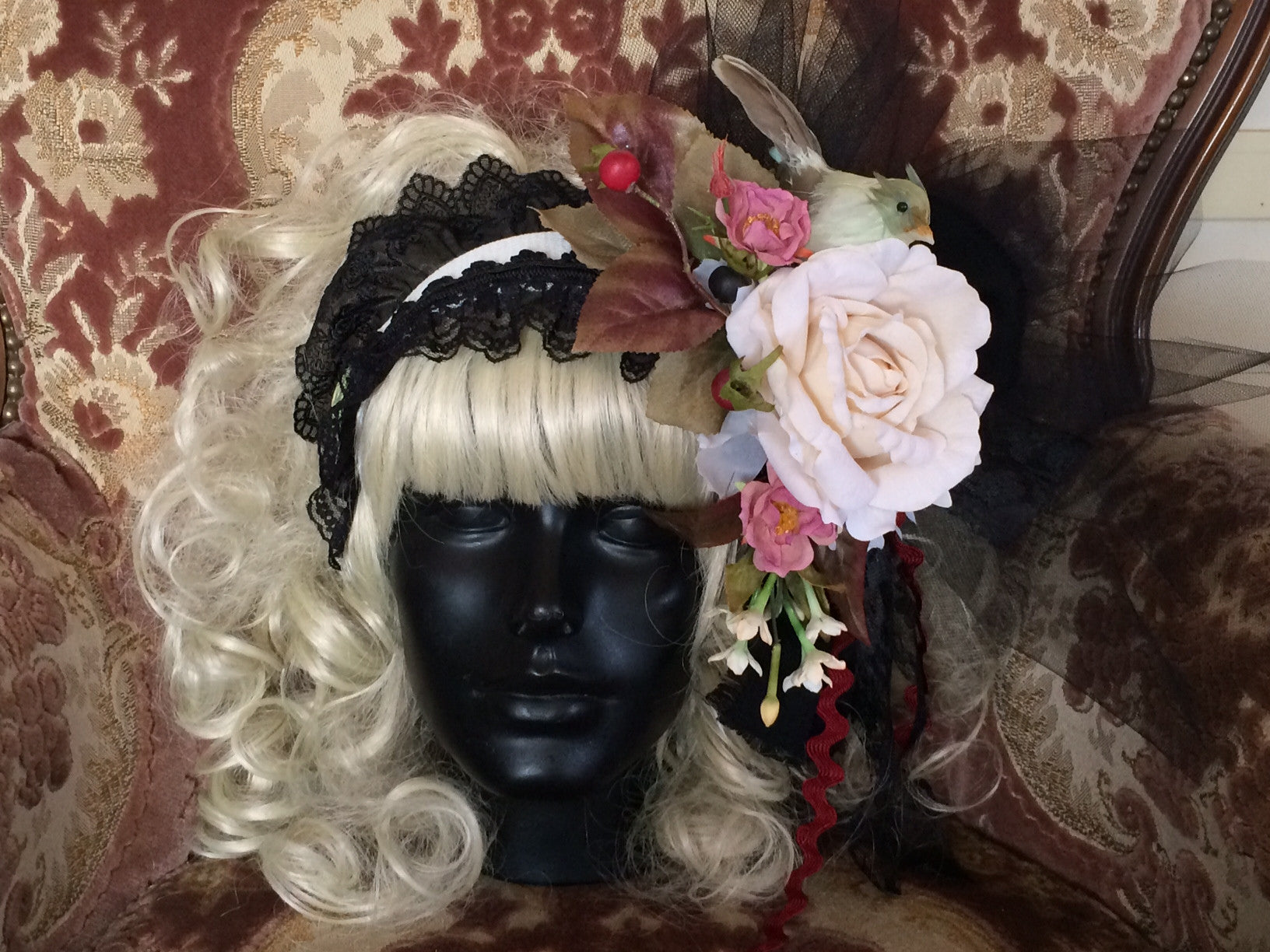 "Morun x Muuna Stoik ""Antique style flower head dress (hair band type)"""