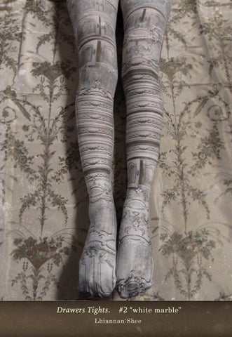 "Lhiannan:Shee ""Drawers Tights.(white marble ver.)"