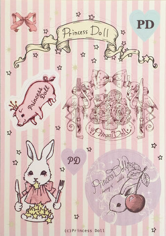 Princess Doll successive characters sticker