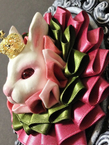 "御蛙商店 ~Frogking Store~ ""White Rabbit Ribbon Rosset"""
