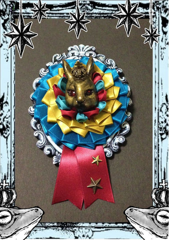 "御蛙商店 ~Frogking Store~ ""Gold Rabbit Ribbon Rosset"""