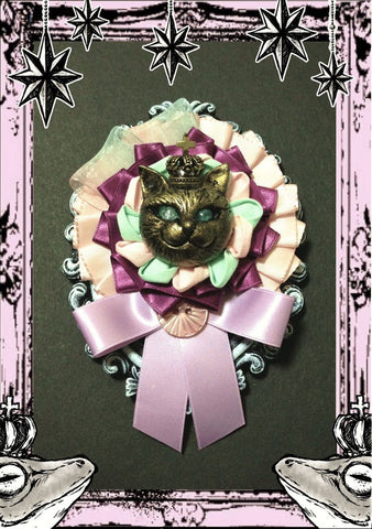 "御蛙商店 ~Frogking Store~ ""Gold Cat Ribbon Rosset"""