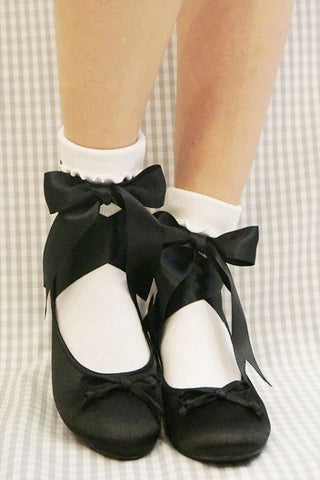 RoseMarie seoir ballet ribbon shoes (black) M