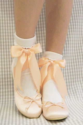 RoseMarie seoir ballet ribbon shoes (pink) L