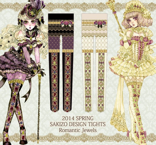 "sakizo ""Romantic Jewels Tights"" (black)"