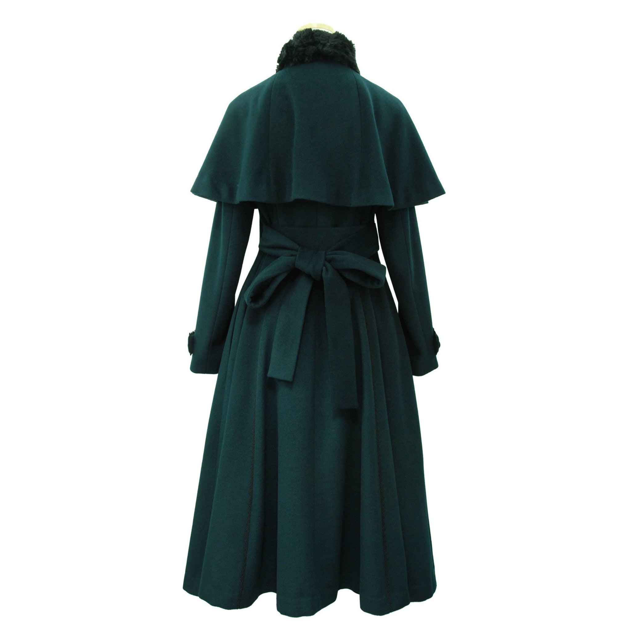 "Sheglit ""quartet"" Cape Coat dark green"