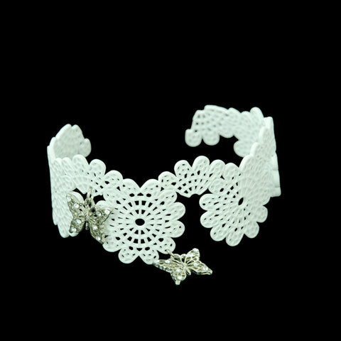 "Sheglit ""Ulysses"" Lace Bangle white"