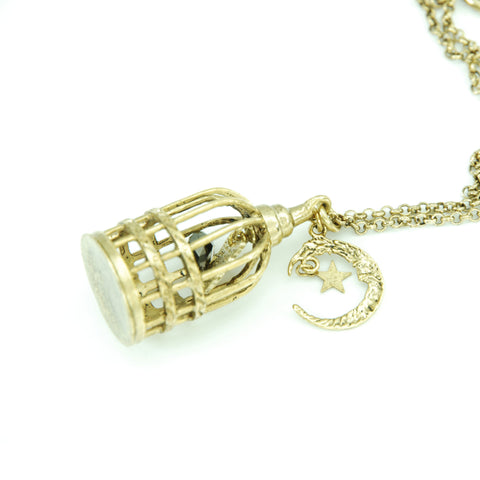"Sheglit ""Caged Ulysses"" Necklace gold"