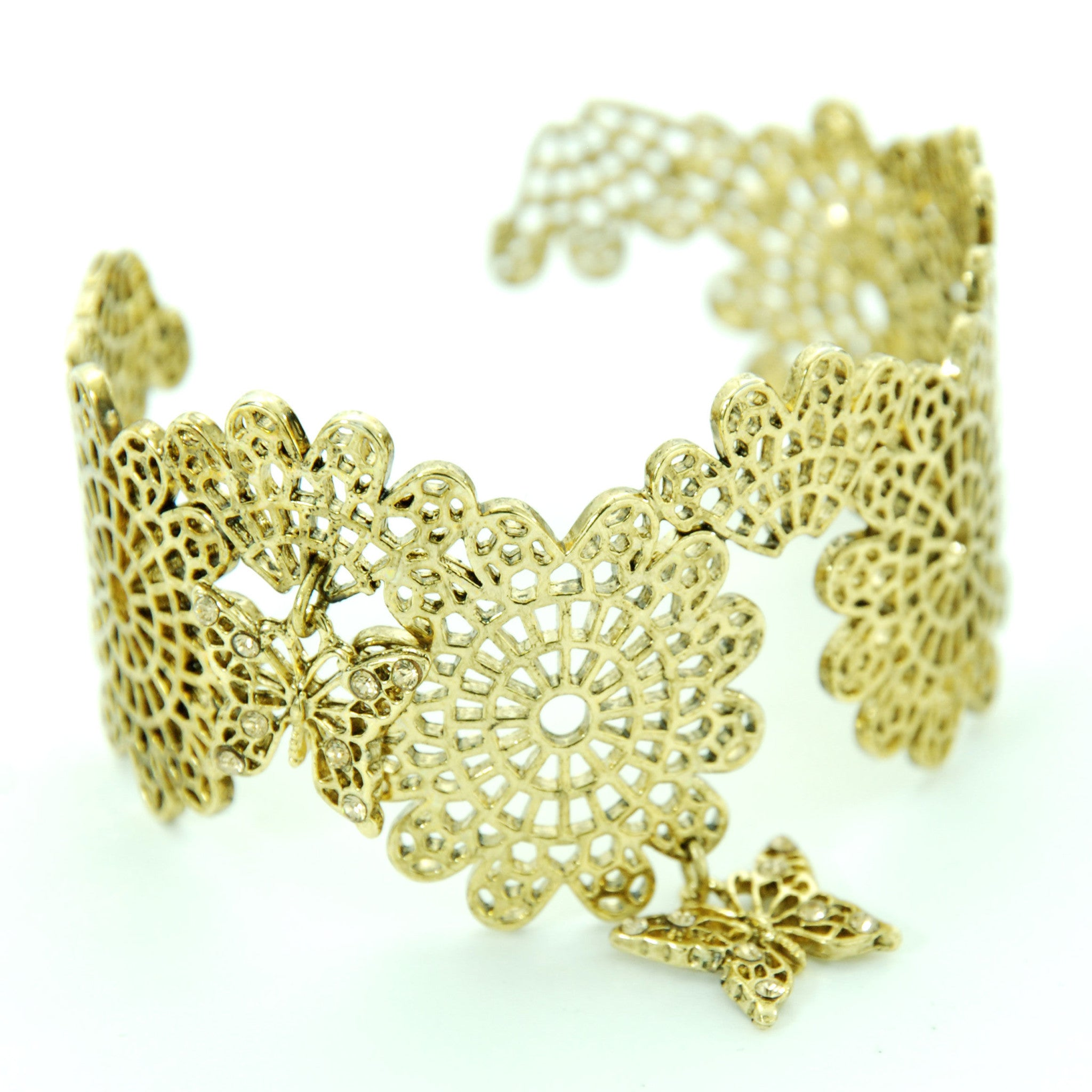 "Sheglit ""Ulysses"" Lace Bangle gold"