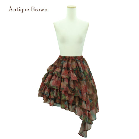 "Sheglit ""Rose Garden"" Frill Skirt antique brown"
