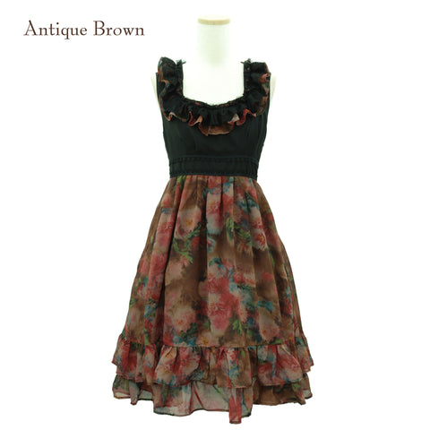 "Sheglit ""Rose Garden"" Dress antique brown"