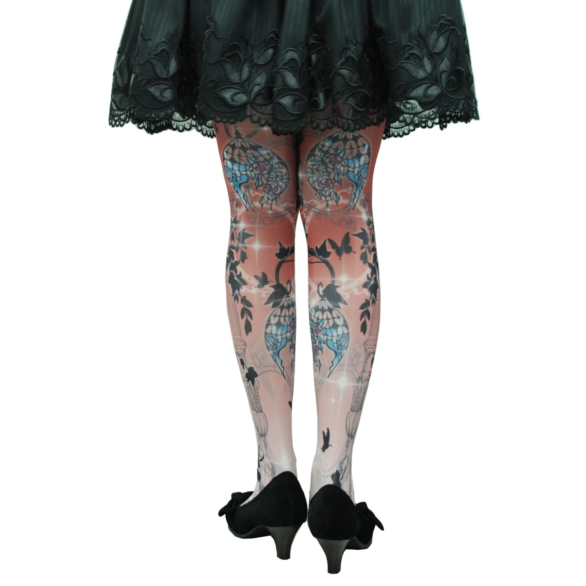 "Sheglit ""Lamp Shade tights"" bordeaux"