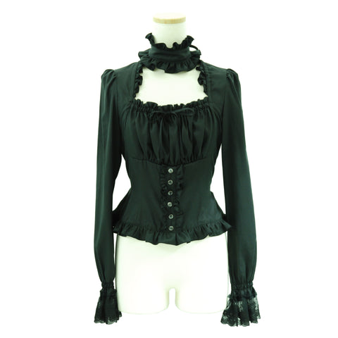 "Sheglit ""Royal"" Square Blouse black"