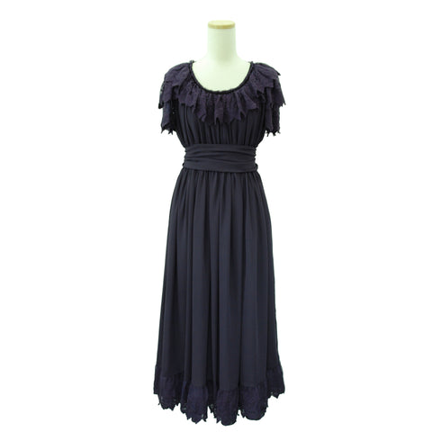 "Sheglit  ""Nocturne"" Lace Dress purple"