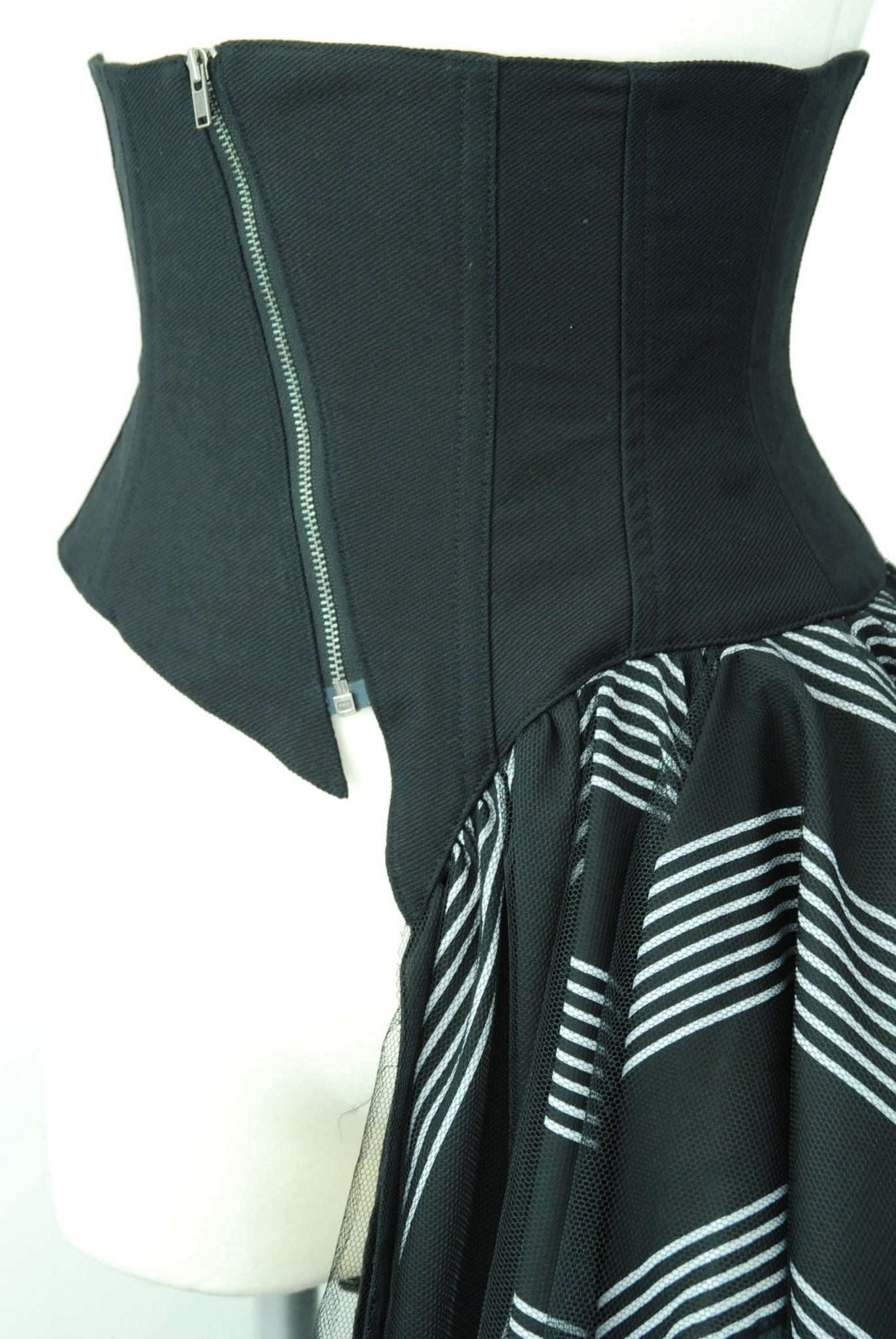 "Sheglit ""Stripe Tulle Corset"" black stripes"