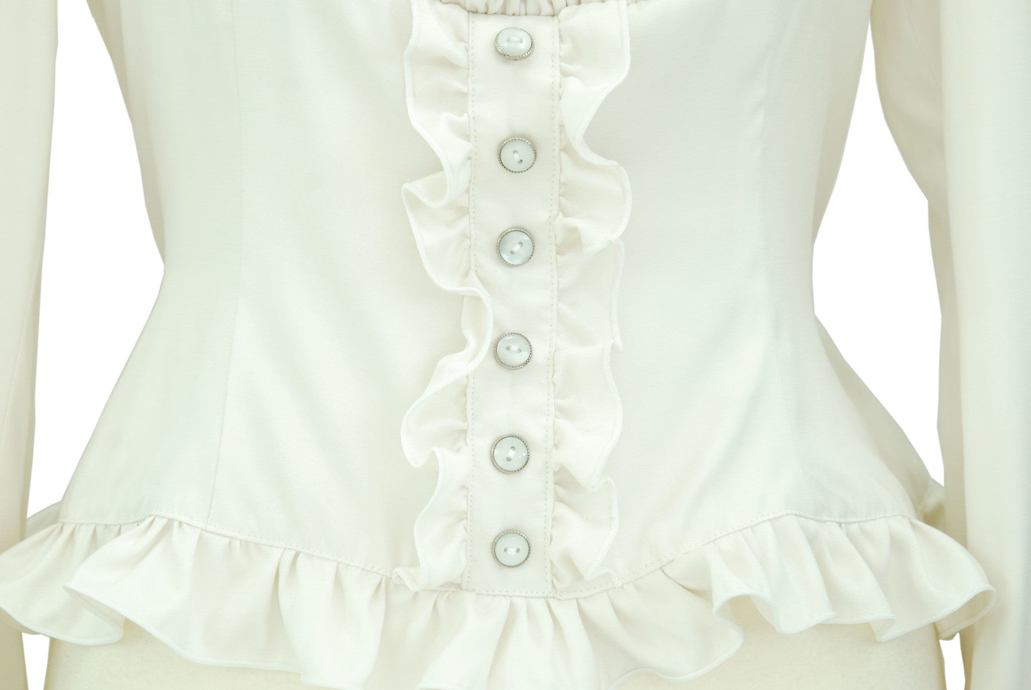 "Sheglit ""Royal"" Square Blouse ivory"