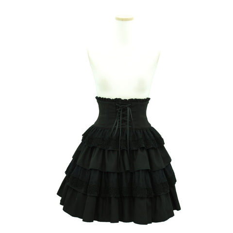 Sheglit High Waist Tiered Skirt
