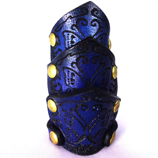 "Poorman's Gold Label ""Cypris morpho butterfly carved ring"""