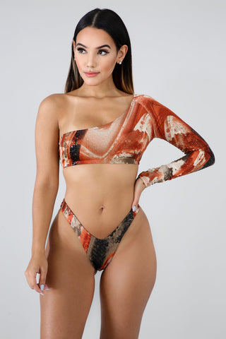 Stella One Shoulder Bikini Set