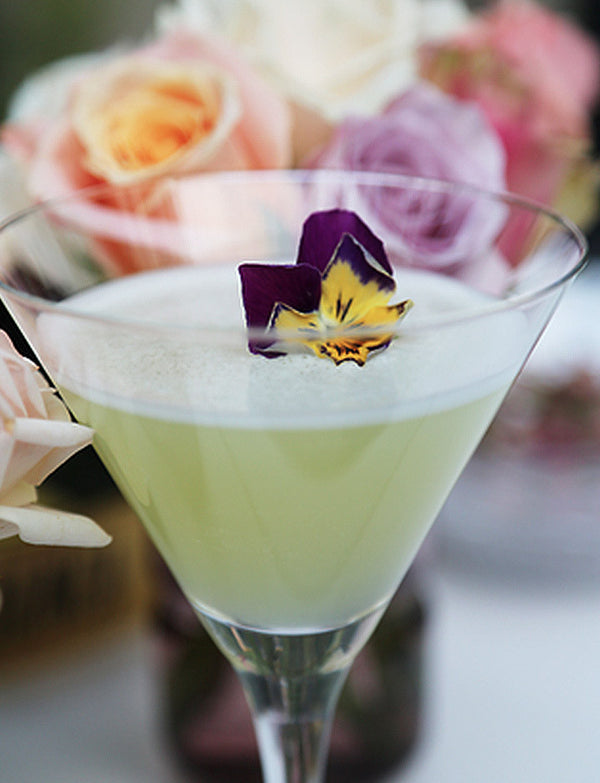 Floral cocktails and tempting treats to match...