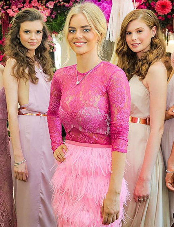 Behind the scenes: Pretty in pink with Samara Weaving and Solid Gold Diamonds