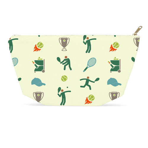 Tennis Anyone Pattern Accessory Pouch