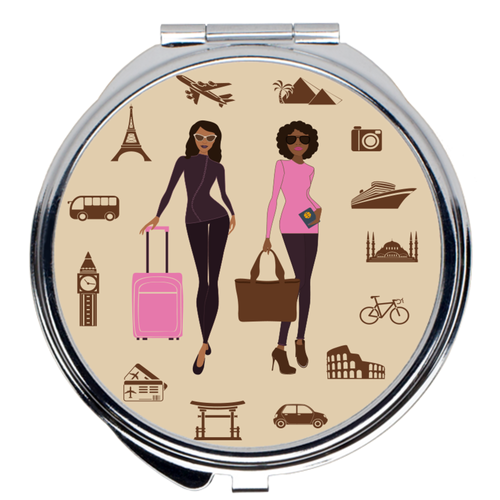 Let's Go Travel Compact Mirror